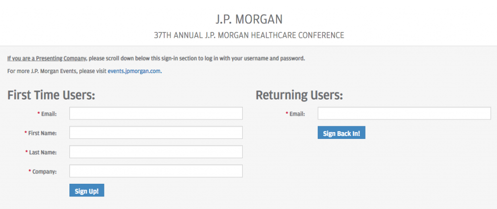 37th JP Morgan Healthcare Investor Conference | It's all